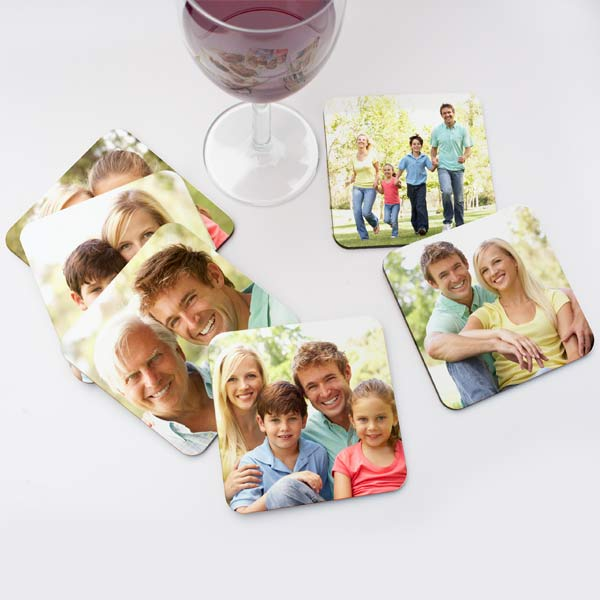 Custom coasters are great for displaying your best photos and adding interest to your dining decor.