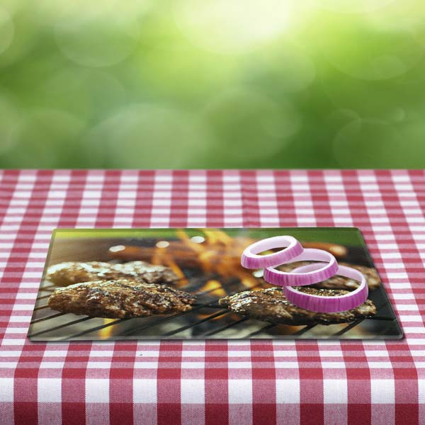 Create a personalized glass cutting board to show off at your next cookout