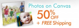 FREE Shipping, Plus 50% Off Photos to Canvas from MailPix!