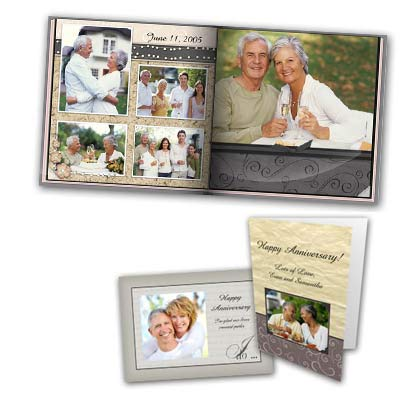 Design an anniversary card or album using your own photos and create the perfect anniversary gift.