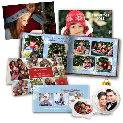 Use you own creativity and choose from a range of Christmas themed photo products.