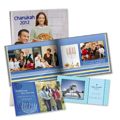 Celebrate Hanukkah with photo books, cards and more from our personalized photo gift collection.