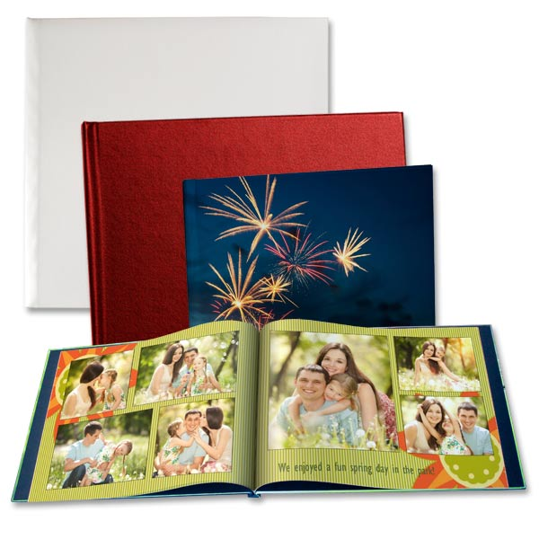 Give your memory album that professional look with our custom printed hard cover books.