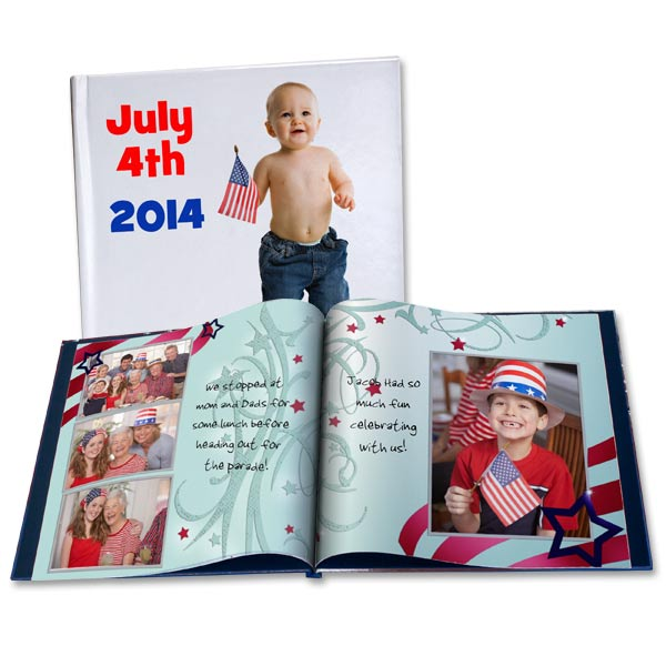 Choose from several patriotic themes and create the ultimate Independence Day photo album.