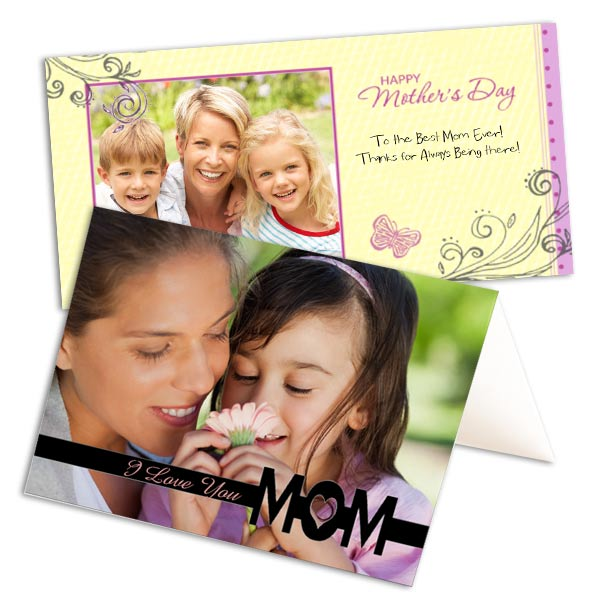 Make Mom smile and design your own Mother's Day card with your own photos.