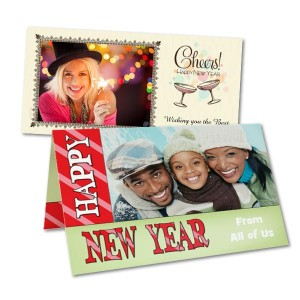 Make your own New Year's greeting this year with our fun customized photo cards.