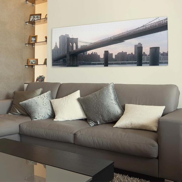 Display a large panoramic canvas in your home