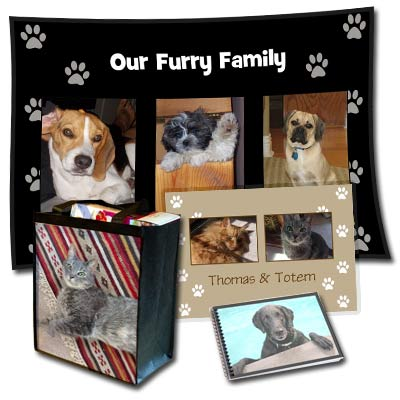Design the perfect gift for your pet including photo pet dishes, pillows and more.