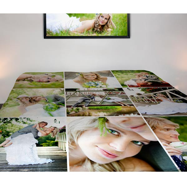 Full Size Plush Photo Blanket to cover your bed!