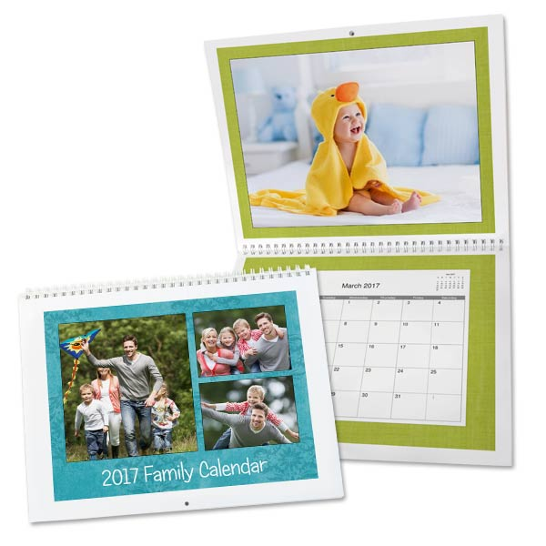 Personalize your own spiral calendar and add color to your home or office decor.