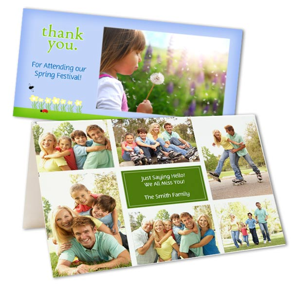 Send everyone a warm greeting this Spring with our fully customized Spring themed photo cards.