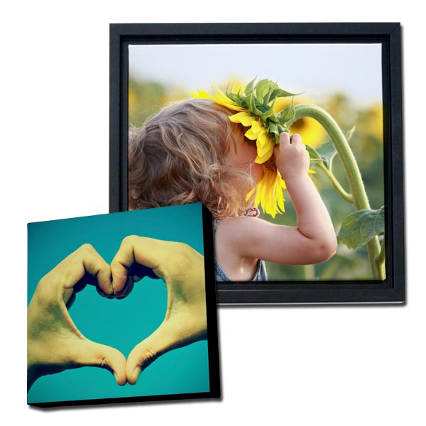 From gallery wrapped to framed, we have the perfect square canvas for your custom printing needs.