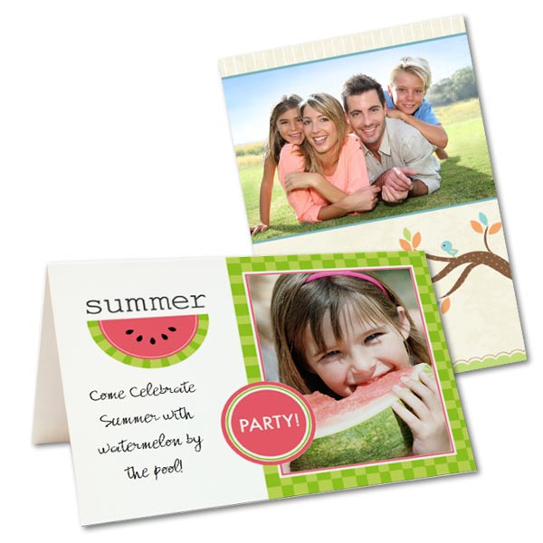 Send your loved ones a greeting this Summer with your favorite Summertime themed family photos.