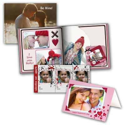 Design the perfect Valentine's Day card or custom gift set with our personalized photo products.