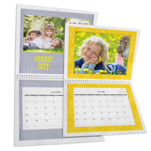 Create a custom wall calendar for your home with photos and personalized dates