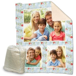 Snuggle up with a soft warm personalized sherpa blanket