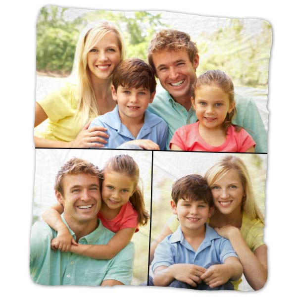 Snuggle up with a photo collage blanket fleece for your home