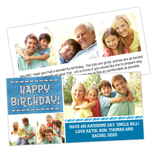 Personalized 4x8 Cards Printed on Premium Card Stock
