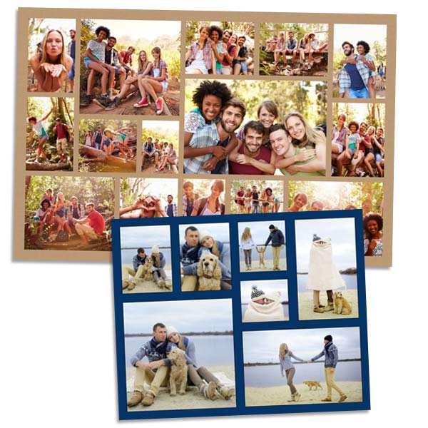 Beautiful photo collage print featuring many different pictures