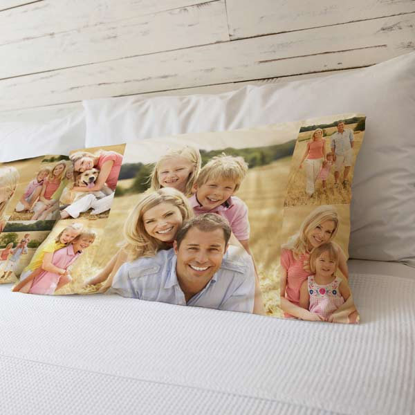 Quality photo collage pillowcases from MailPix add color to your room