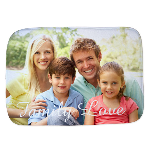 Make your own personalized bath mat complete with your own photos and a stylish background.