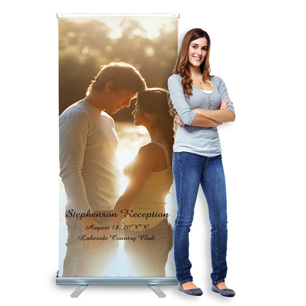 Our roll up banner can be fully customized with your text and photos for any planned event.