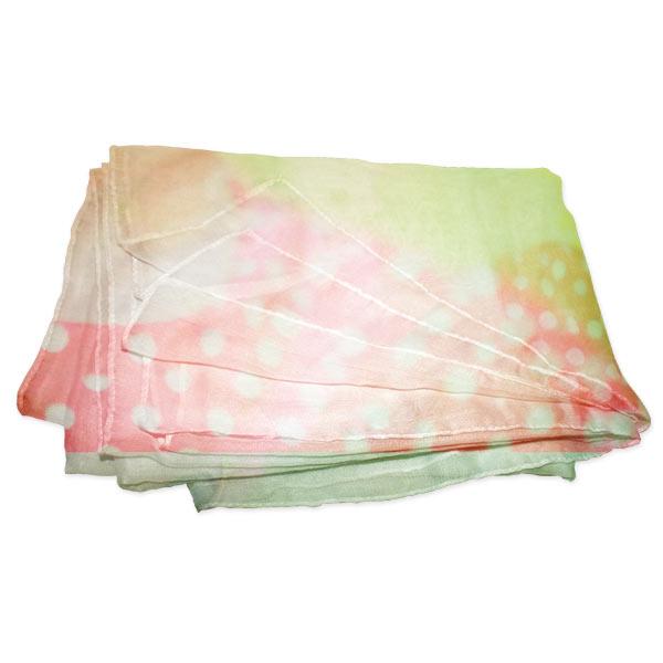 Folded Sheer Photo Scarf