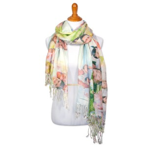 Colorful photo collage scarf for any outfit