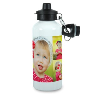 Personalized Photo Collage Water Bottle to keep you cool and hydrated.