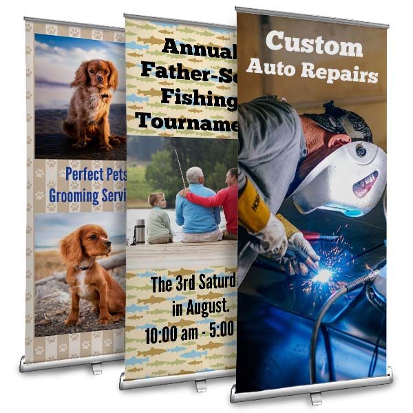 Create your own retractable banner with MailPix Roll up banners
