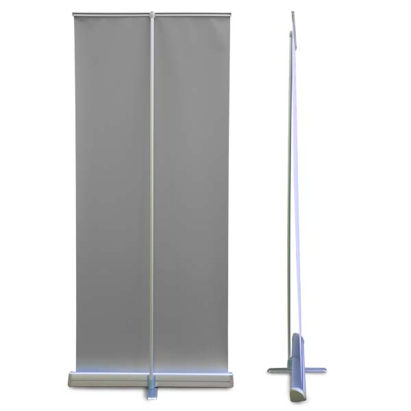 Collapsible Roll up banner side and back view