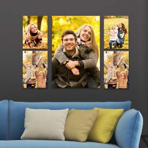 Customize your own canvas wall layout with our custom printed canvas clusters.