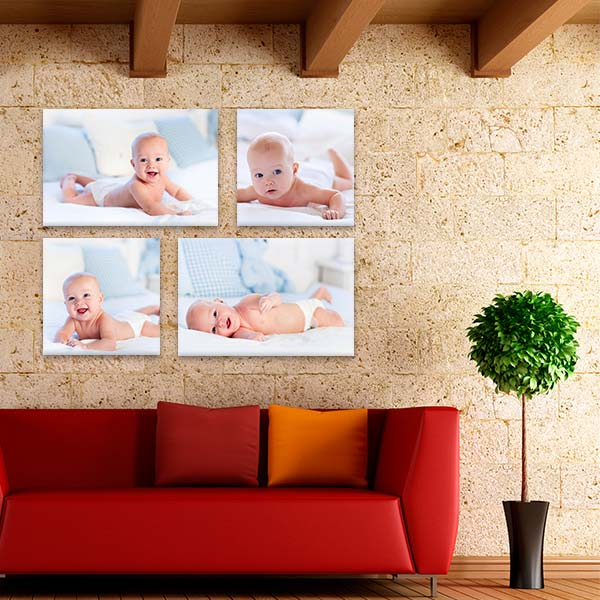 Turn any wall in your home into a focal point with our Contemporary canvas cluster wall art.