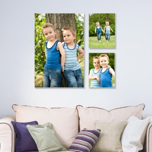Instantly transform any room by print your own photos on quality canvas wall décor.