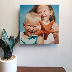 Fill your walls with cute lightweight photo tiles you can easily rearrange