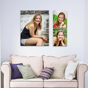 Instantly add an artistic flair to any room with our LimeLight custom photo arrangement.