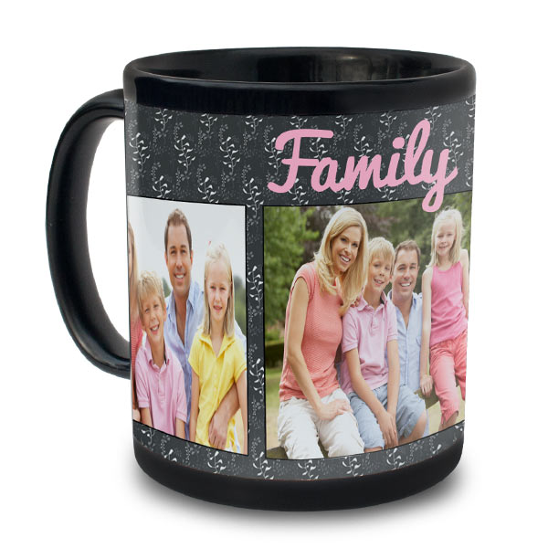 Customize an 11 oz black mug of your own using your own personalized text and best digital images.
