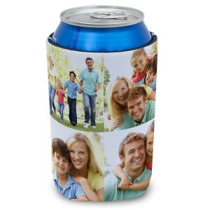 Enjoy a cold beverage in style with our custom photo drink sleeves and koozies.