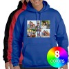 Custom printed Hooded sweatshirt available in 8 different colors.