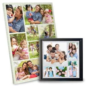 Show off a series of favorite photos with our custom printed collage canvases.