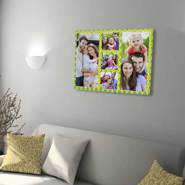 Collage canvas prints arrive ready to hang in your home.