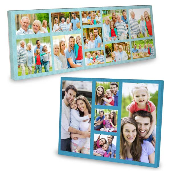 Photo Collage Canvas is available in different sizes and orientations