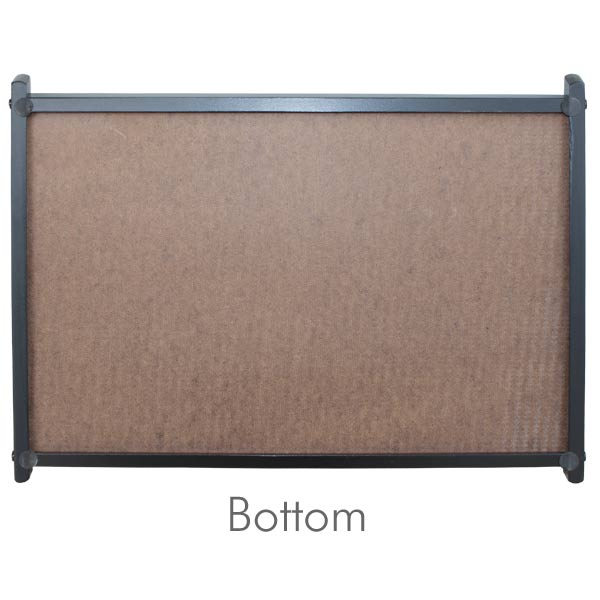 Bottom of wood serving tray with padded feet