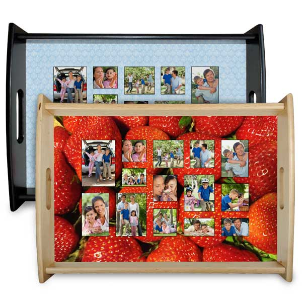 Serve dinner or drinks in style with our custom photo service trays.