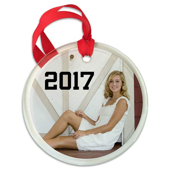 Design your own ornament with a unique photo printed on our beveled glass edge ornament.