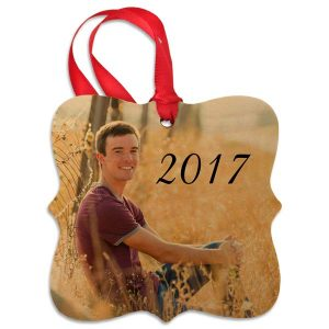 Our custom photo fancy cut ornaments are made from real maple for a charming rustic look this holiday.