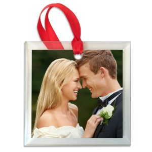 Beautiful glass custom photo ornament