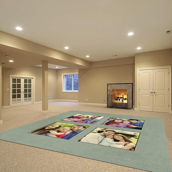 Design your very own photo floor mat that fits in with your distinctive home decor.