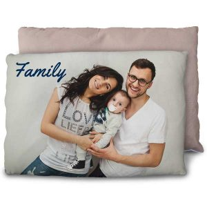 Sit up in bed comfortably with our personalized overstuffed bed pillows.