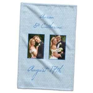 Showcase your best photos even in your kitchen or bathroom with our customized hand towels.